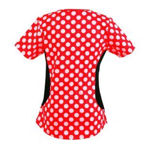 Women's Polka Dots Print Scrub Top