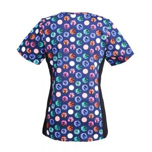 Women's Print Flex Scrub Top