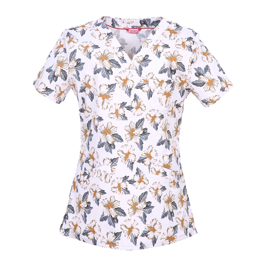 Women's Print Scrub Top - Tailor's Uniform