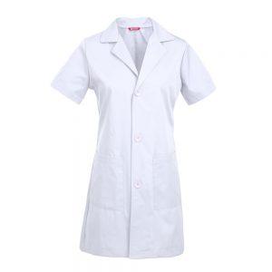 Women's Lab Coat Short Sleeve- White