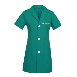 Personalized Embroidered Women's Lab Coat Short Sleeve