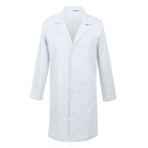 Men's Lab Coat – White