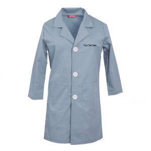 Custom Embroidered Childrens Lab Coat Personalised with your Text