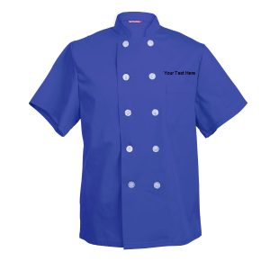 Custom Embroidered Men's Chef Coat Short Sleeve Chef Shirt