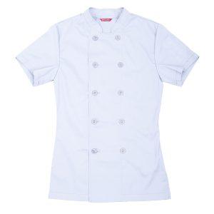 Women's Chef Coat Short Sleeve Chef Shirt