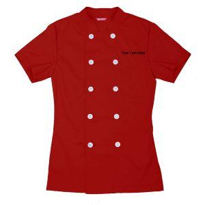 Women's Chef Coat Short Sleeve Chef Shirt (Copy)