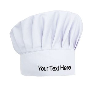 Custom Embroidered Chef Hat Adjustable Elastic Chef Cap